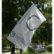 Флаг брендовый односторонний вертикальный фото