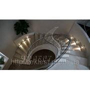 Забежная лестница железобетонная фото