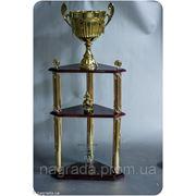 Кубок трехэтажный треугольный 3063 фото