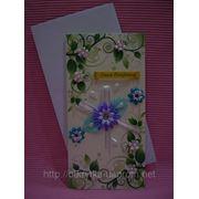 Для женщин открытка ручной работы Летний сад Е-044 фото