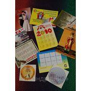 Календарики, объемные наклейки фото