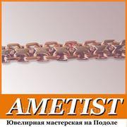 Цепочки ювелирные плетения «Якорная двойная» на заказ в Киеве фото
