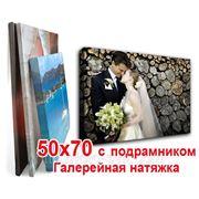 Печать на холсте 50х70 с подрамником (галерейная натяжка) фото