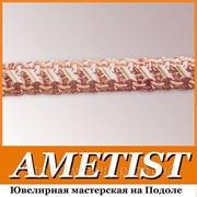 Цепочки ювелирные плетения «Бисмарк двойной с накладками» на заказ в Киеве фото
