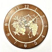 "Часы резные ""Дары природы"" ⌀ 40 см фото"
