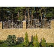 Кованый забор арт Z004 фото