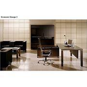 """Офисная мебель для руководителя Кабинет """"Квадро"""" (шпон Эбони) фото"""