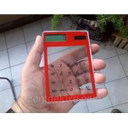 Сенсорный прозрачный калькулятор на солнечной батарее фото
