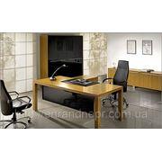 """Офисная мебель для руководителя Кабинет """"Квадро"""" (шпон Тик) фото"""