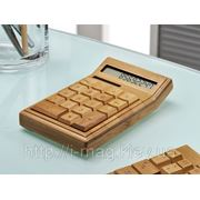 Бамбуковый калькулятор, калькулятор из дерева фото