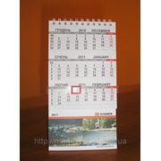 Настольный перекидной календарь-домик фото