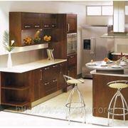 Кухни с фасадами из натурального дерева и шпонированого МДФ в киеве на заказ тел.096-1005485,044-581 фото