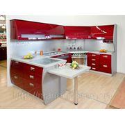 Заказать кухню в Киеве, фасады МДФ для кухни, кухонные гарнитуры недорого, радиусные фасады для кухни фото