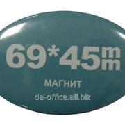 Магниты 45х69 мм 100шт. пластиковые овальные фото