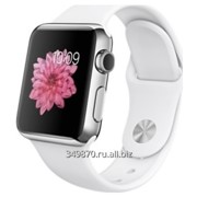 Умные часы Apple Watch 38mm with White Sport Band фото