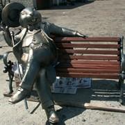 Скульптура парковая Бобр фото