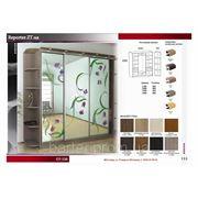 Шкаф купе фасад цветное стекло в Емильчине. Услуги по изготовлению шкафов купе фото