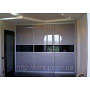 Шкаф-купе на заказ со стеклом лакобель фото