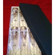 Бокалы для шампанского из богемского стекла (фужеры) фото