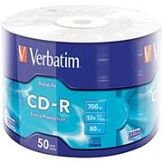 Компакт диск CD-R 700мБ Verbatim Datalife в обтяжке 50шт. фото