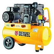 DENZEL Компрессор масляный PC 2/50-400, Х-PRO, ременный, 10 бар, производительность 400 л/мин, 2, 3 кВт, 220 В. DENZEL фото