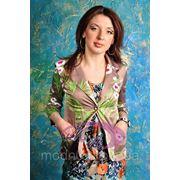 Пиджак с белыми цветами LV-898 фото