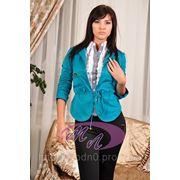 Пиджак жатый рукав (голубой) LP-182 фото