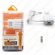 Сетевое Зарядное Устройство Remax Fashional Micro USB + USB Silver (Серебристый) фото