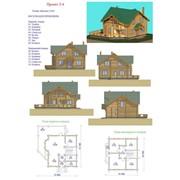 Дом жилой деревянный. Проект 2-4 фото