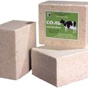 Соль кормовая для животноводства , брикет (лизун) 5кг фото