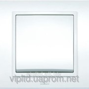 Выключатель ZENA с рамкой белый 500-010200-200 фото