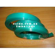 Лента ПЕТ упаковочная 16 х 0,8 зеленая рифленная фото