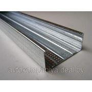 Профиль для гипсокартона направляющий UW: 100x40, L=3м. Толщина металла - 0,45мм. фото