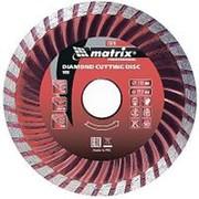 Matrix Диск алмазный, отрезной Turbo, 200 х 22,2 мм, сухая резка Matrix Professional фото