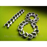 Скобы (клипсы) с гвоздём 18 mm круглые для крепления провода и кабеля - ISO 9001 фото