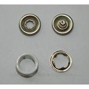 Кнопка детская 9,5 мм трикотажная кольцо №101 белая фото