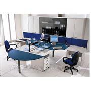 Мебель офисная, столы с перегородкой, на 2,3,4 места,недорого фото