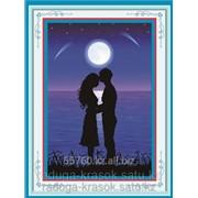 Картина стразами в 3Д Любовь под луной 37х50 см фото