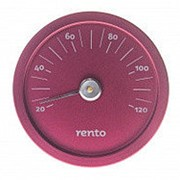 Термометр круглый для сауны Rento, алюминий фото