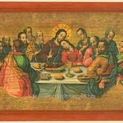 Икона Тайная вечеря (копия древней украинской иконы 1698-1705г. иконописец Иов Кондзелевич) фото