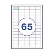 Этикетка самоклеящиеся а4, 65 шт на листе 38,1х21,2 фото