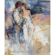 Картина по номерам Любовь в теплых тонах фото