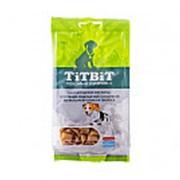 TitBit Dog Хрустящие подушечки с начинкой со вкусом кролика и творога лакомство для щенков, 95г фото