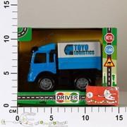 Автотранспортная игрушка Грузовик инерционный 1:60 с съем.тентом, звук, свет, кор. PA4210 фото