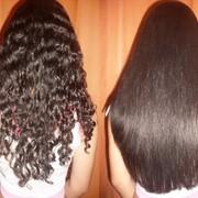 Кератиновое выпрямление волос в Алматы фото