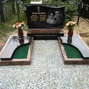 Памятник гранит двойной комбинированный сусальное  фото