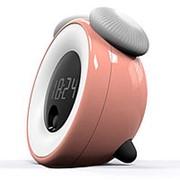 Будильник с ночником и датчиком движения (розовый) фото