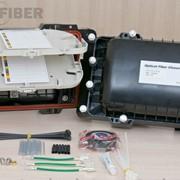 Муфта оптическая STC-HTS горизонтальная, универсальная, для внешней/внутренней прокладки до 96 волокон фото