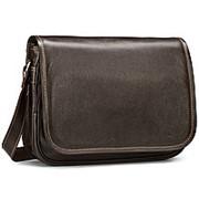 """Кожаная сумка """"Риана"""" (коричневая) фото"""