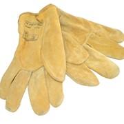 Перчатки замшевые, рабочие перчатки из спилка прочной коровьей кожи фото